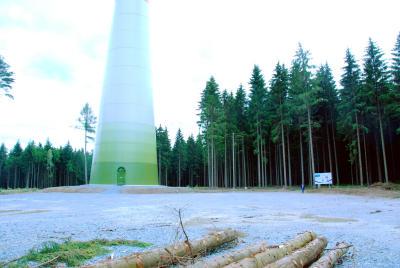 Windkraftanlage bei Hof in Bayern